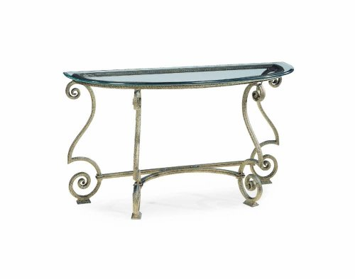 Cheap Console Table w/ Glass Top by Bernhardt – Aged Bronze Paint Finish (364-912R) (364-912R)