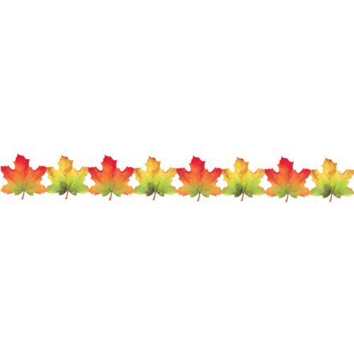 Elegant Leaves Paper Garland 8ft Long