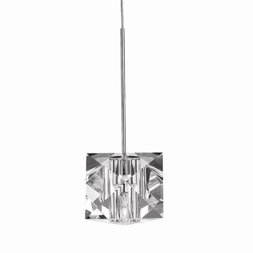 B003UNQMEW WAC Lighting MP-940-CL/DB Prisma Collection 1-Light Monopoint Pendant, Dark Bronze with Clear Optical Crystal Glass Shade