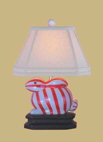 How To Get Red Stripes Porcelain Bunny Lamp Carol J