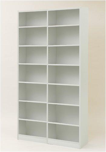 山善(YAMAZEN) 本棚オープンラック(幅90高さ180) ホワイト KOR-1890(WH)