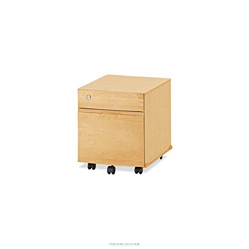 ITOKI(イトーキ) 学習机オプション 二段ワゴン・袖 (ライトブラウン)