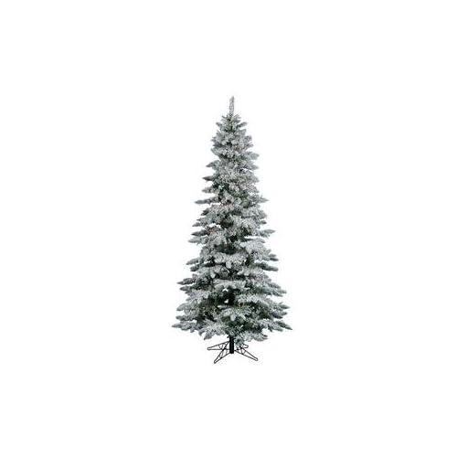 Vickerman 7.5 ft. Flocked Slim Utica Fir Multi Dura Lit Christmas Tree