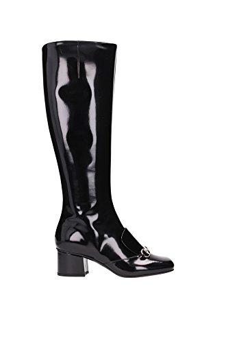 362949CLG001000-Gucci-Bottes-Montantes-Femme-Cuir-Noir