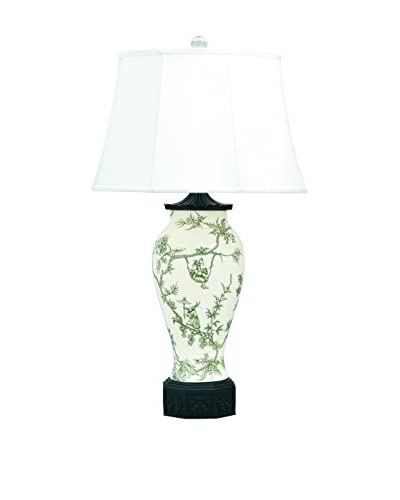 City Scape Windsor Toile Black Lamp, Black