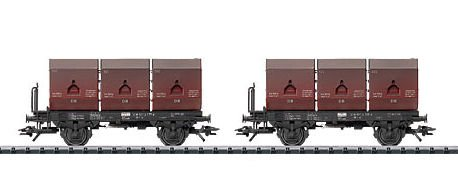 Trix 24407 2 x DB Coal tub container Wagons