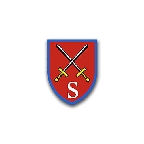 Aufkleber / Sticker - Stabsschule des Heeres Sticker Aufkleber Heer Wappen Abzeichen Emblem Bundeswehr passend für Jeep Opel VW Golf GTI 3er BMW Mercedes Benz 5x7cm #A824