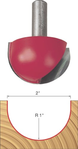 Freud 18 138 2 Inch Diameter Round Nose Router Bit With 1
