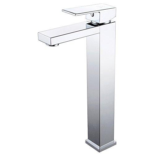 KES L3120B Bathroom Lavatory Single Lever Vessel Sink Faucet Tall, Polished Chrome