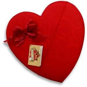 VALENTINES DAY CANDY CHOCOLATE HEART SATIN BOX TURTLES 8.75 OZ