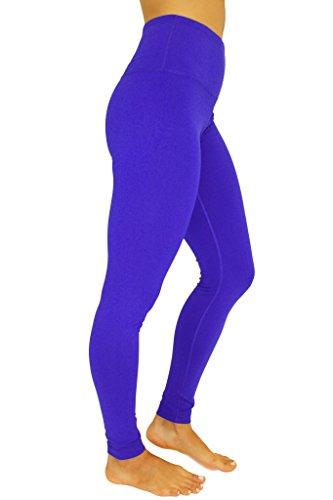 90 Degree By Reflex - High Waist Power Flex Legging - Tummy Control - Reflex Blue Small