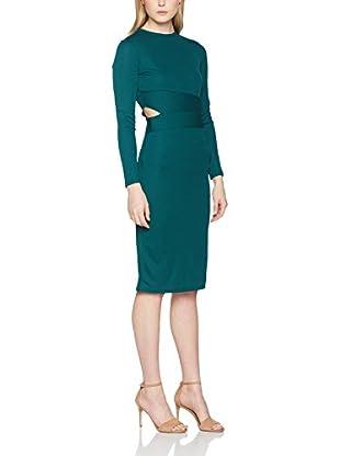 Guess Vestido Rib (Verde Botella)