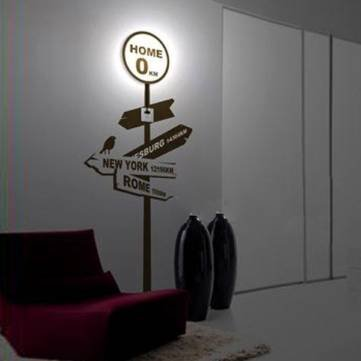 Pakhuis 3D Wallpaper Home Lamp Sticker Wall Light Decor Wall Lamp