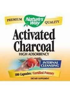 Nature's Way Activated Charcoal, 100 Capsules (Pack of 2) (Nature Way Activated Charcoal compare prices)