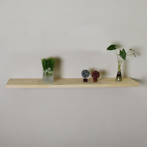 Unfinished Floating Wall Shelf