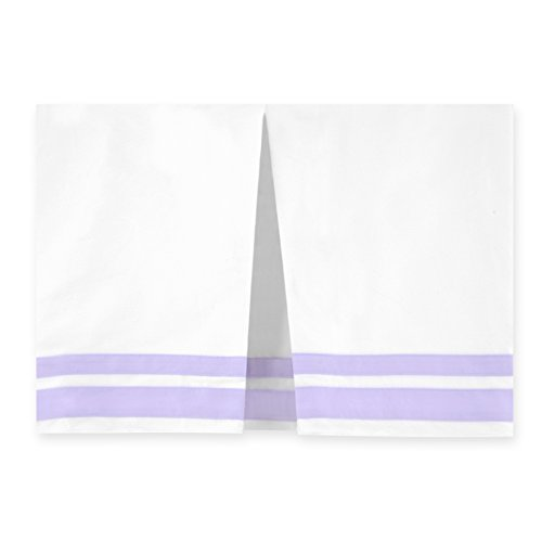 Just Born Crib Skirt, Lilac