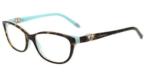 Tiffany Tf2051b Cateye Crystals Butterfly Tortoise Havana Azure Eyeglasses 51mm 8134 (Tiffany Frames For Women compare prices)