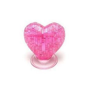 Great American Puzzle Factory Heart - 3D Crystal Puzzle - Pink, Red