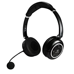 Andrea WNC-1500 Stereo 2.4Ghz Wireless computer headset with noise canceling microphone, USB charging cable in Retail Packaging