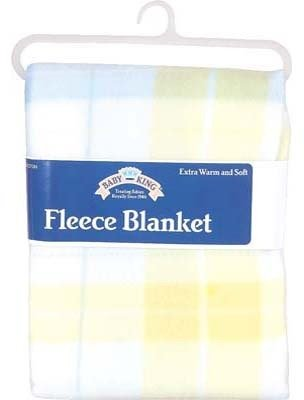 "Fleece Baby Blanket Plaid - 28"" X 28"" (Pack Of 12) front-1074086"
