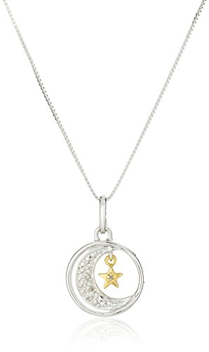 two-tone-sterling-silver-diamond-accented-i-love-you-to-the-moon-and-back-pendant-necklace