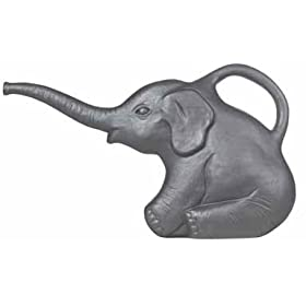 Plastic Gray Elephant Watering Can: Classic Union Products Yard Decoration - Made in the USA!