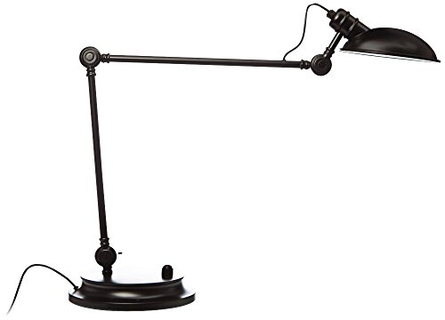 Mighty Bright Lux Bungalow Black Satin Led Desk Lamp