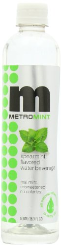 Metromint Water, Spearmint, 16.9-Ounce Bottles (Pack of 12)