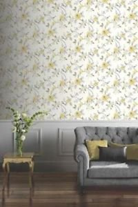 Arthouse Lara Wallpaper - Yellow from New A-Brend