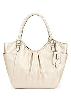 Per Una Ruched Tote Bag, White