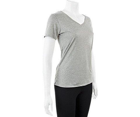 Women's Nike Legend 2.0 V-Neck Dry Training T-Shirt Grey Heather/Cool Grey Size X-Large