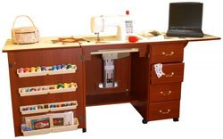Arrow Model 98302 Sewing Machine Credenza with Airlift - Includes Free Custom Insert!