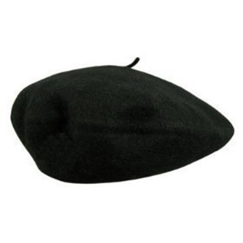 Wool Fashion French Beret, Black