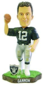 Oakland Raiders Rich Gannon Game Worn Forever Collectibles Bobble Head