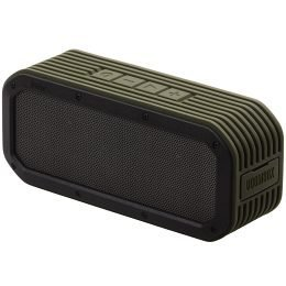 Divoom Voombox-Outdoor Water Resistant Bluetooth Portable Speaker With Mic For Smartphones - Retail Packaging - Green