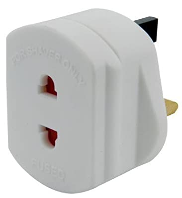 Products UK 2 to 3 Pin Fuse Adaptor Plug