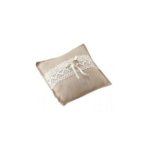Ginger Ray Vintage / Rustic Hessian Wedding Ring Cushion