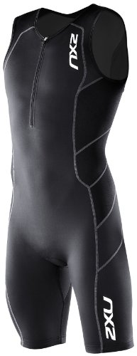 2XU Men's Endurance Trisuit, Black/Black, S