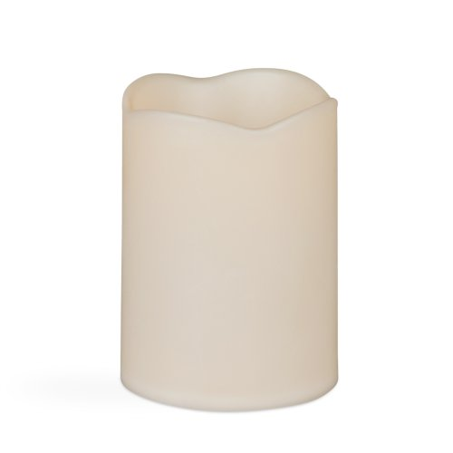 Gerson Wax Covered Resin Candle, 3 By 4-Inch