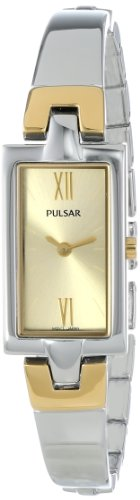Pulsar 2-Hand Two-Tone Bangle Women's watch #PEGG13