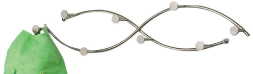 Spectrum Diversified 65278 Sweep Double 8-Hook Coat Rack, Satin Nickel