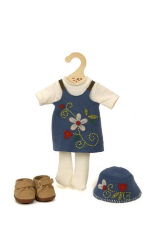 My Doll wool blend blue dress for 32 cms doll