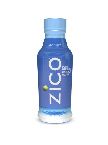 ZICO Pure Premium Coconut Water, Natural, 14-Ounce Bottles (Pack of 12)