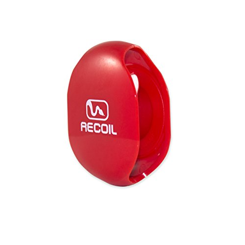 Recoil AUTOMATIC Cord Winder for USB Cables, Phone, Tablet and Reader Chargers, Sync Cables and Other Cords. No More Tangled Cords! The Original Retractable Cord Organizer. Red, Size Large (Recoil Automatic Cord Winder compare prices)