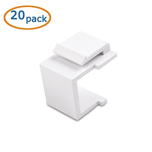 Cable Matters (20-Pack) Blank Keystone Jack Inserts in White (Cable Jack Insert compare prices)