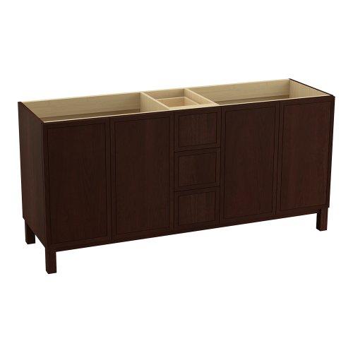 Kohler K-99512-Lg-1Wg Jacquard 72-Inch Vanity With Furniture Legs, 4 Doors And 3 Drawers, Cherry Tweed