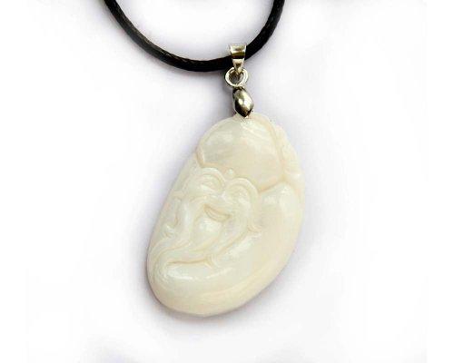 Natural Shell Longevity Man Health Pendant Necklace