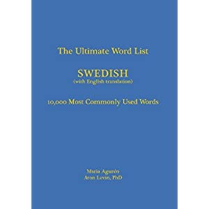 the ultimate word list  10000 most commonly used words   swedish  with