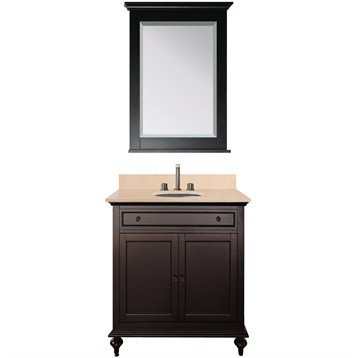 Avanity Merlot 30 Inch Single Bathroom Vanity - Espresso