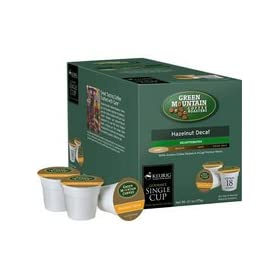 Green Mountain Hazelnut Decaffeinated Coffee for Keurig Brewing Systems - 108 K-Cups